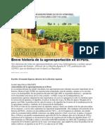 Breve HBreve Historia de La Agroexportación en El Perúistoria de La Agroexportación en El Perú