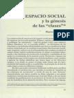 Espacio Social y La Genesis de Las Clases. Bourdieu