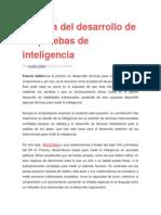 Historia Del Desarrollo de Las Pruebas de Inteligencia