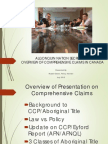 Overview Comprehensive Land Claims Policy for ANS July 20 15 Final