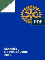 MANUEL DE PROCEDURE ROTARY