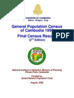 General Population Census of Cambodia 1998