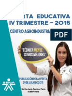 Oferta Educativa IV Trimestre