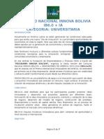 CONCURSO NACIONAL INNOVA BOLIVIA IB6.0 + IA - Bases Categoria Universitaria