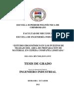 ESTUDIO ERGONÓMICO EN LOS PUESTOS DE TRABAJO DEL ÁREA DE PREPARACIÓN DE MATERIAL EN CEPEDA COMPAÑÍA LIMITADA.pdf