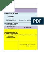 Plan de Accion Comite Primera Infancia Infancia 2015