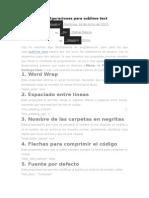 Configuraciones Para Sublime Text