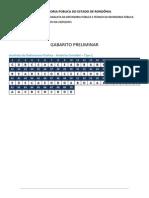 Gabarito-FGV-DPE-RO- Analista Da Defensoria Pública - Analista Em Engenharia Civil