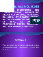 Republic Act NO 9165