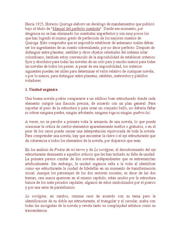 Seymour Menton Manual Imperfecto Del Novelista