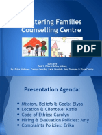 ethics-creation of mock counselling centre