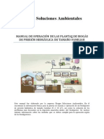Manual de Operacion de La Planta de Biogas