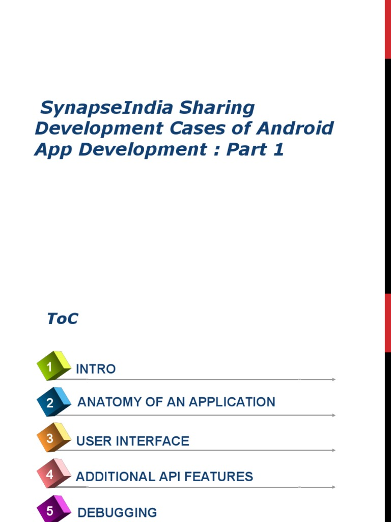 Synapseindia Sharing Development Cases Of Android App Development