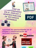 TEMA 3 Iguadad de Oportunidades en El Empleo y Administracion de Recursos Humanos