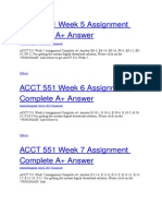 ACCT 551 Week 5 Assignment Complete A+ Answer