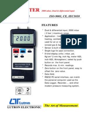 Digital Manometer PM 9100HA (Lutron) (1) | Pressure