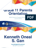 G11 Parents Orientation