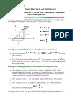 Polar Equations and Their Graphs