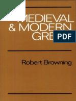 268780037 Robert Browning Medieval and Modern Greek 1983