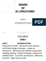 Design of Steel Structures Presentation of Lecturenotes