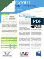 Observatoire de la petite entreprise n° 57 FCGA - Banque Populaire