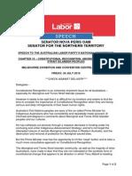 Senator Nova Peris - Speech - Chapter 10 – Constitutional Recognition, Aboriginal & Torres Strait Islander Peoples - Friday, 24 July 2015