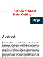 Fabrication of Sheet Metal Cutting