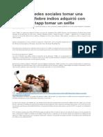 Vaciar Las Redes Sociales Tomar Una Foto Selfie