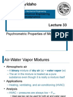 L33 - Psychrometric Properties of Moist Air