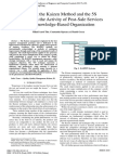 Applying the Kaizen Methoda and 5S Technique in the Activity of Post-Sale Services in the Knowledge-Based Organizationod and the