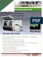 Moldurera Weinig Powermat 700