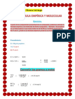 Formula Empirica Formula Molecular