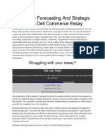 Technology Forecasting and Strategic Planning in Dell Commerce Essay