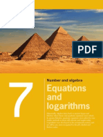 Chapter 7 Equations and Logarithms