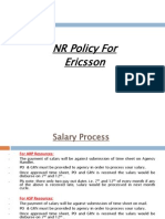 NR Policy for Ericcson