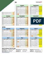Split Year Calendar 2015 2016 Portrait
