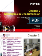 PHY 130 - Chapter 2 -Kinematics in One Dimension