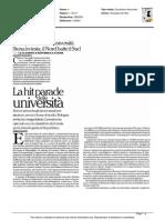 La Hit-parade delle università - La Repubblica del 24 luglio 2015