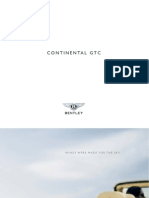 Bentley Continental GTC 2008 Misc Documents-Brochure