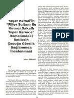 """Yaşar Kemal'in """"Filler Sultanı ile Kırmızı Sakallı Topal Karınca"""" Romanındaki İletilerin Çocuğa Görelik Bağlamında İncelenmesi"""