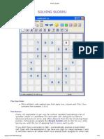 Solving Sudoku