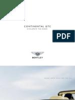 Bentley Continental GTC 2007 Misc Documents-Brochure