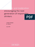 Birdwell, J. & Wybron, I. (2015). Character & Moderation. Encouraging the Next Generation of Responsible Drinkers
