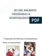 Ingreso Del Paciente Pediátrico a Hospitalización