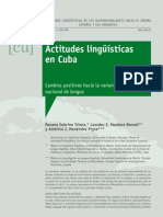 Actitudes Lingüísticas en Cuba