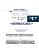 Mason-Dixon poll on presidential race in Florida 7/24/15