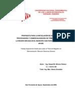 Propuesta Para La Instalación de Una Planta Procesadora y Comercializadora de Tomate y Frutos de La Región