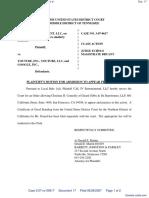 Cal IV Entertainment, LLC v. Youtube, Inc. et al - Document No. 17