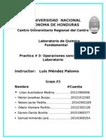 Informe Laboratorio QQ Practica 3 -Operaciones Sencillas de Laboratorio-