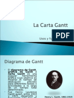 La Carta Gantt Powert Point